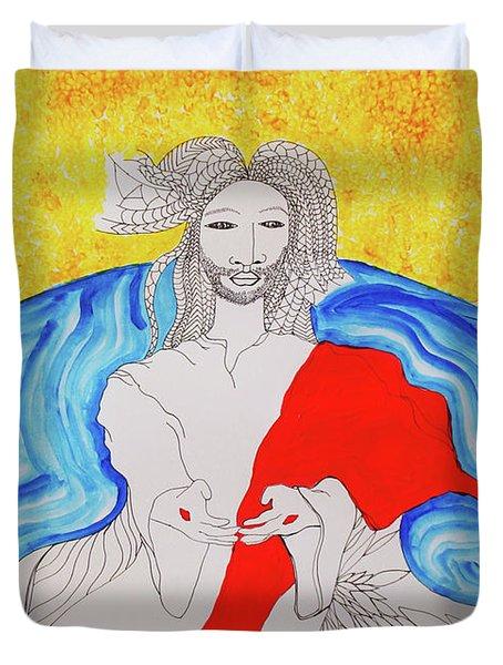 Jesus Messiah Second Coming Duvet Cover