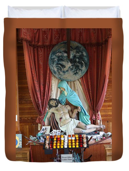 Duvet Cover featuring the photograph Jesus The Christ by Robin Regan