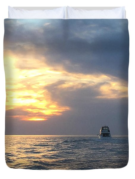 Watching Over The Inlet Duvet Cover