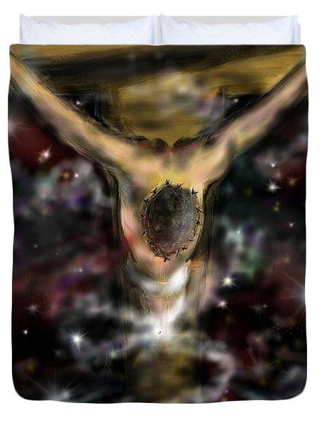 Jesus World Duvet Cover