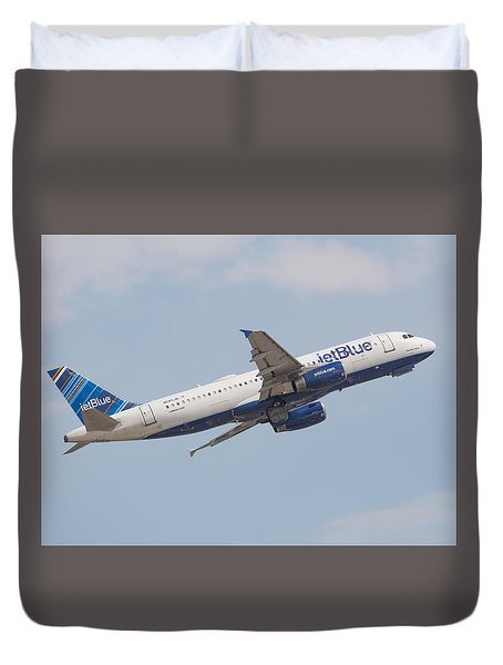 Jet Blue Duvet Cover