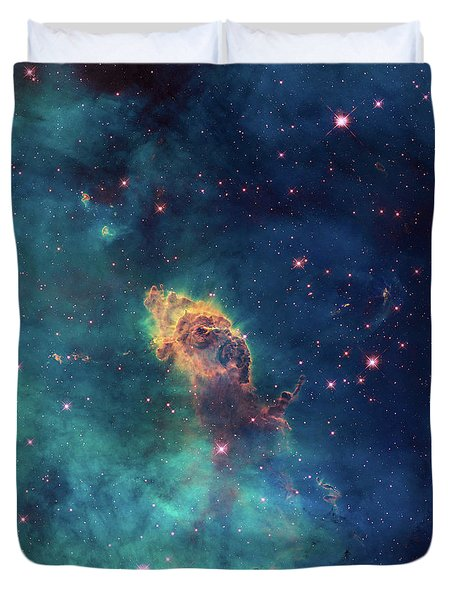 Duvet Cover featuring the photograph Jet In Carina by Marco Oliveira