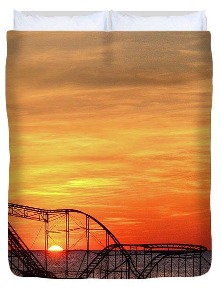 Jet Star Sunrise, Seaside Heights Nj Duvet Cover