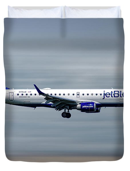 Jetblue Airways Embraer Erj-190ar Duvet Cover