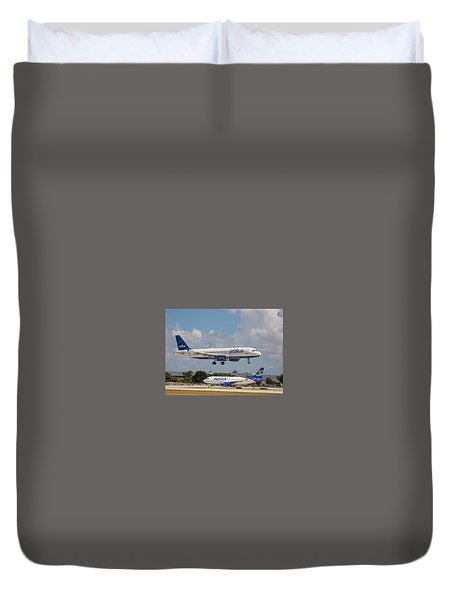 Jetblue Over Spirit Air Duvet Cover