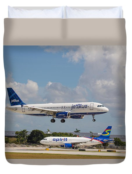 Jetblue Over Spirit Duvet Cover
