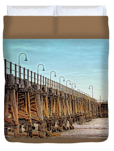Jetty, Coffs Harbour Duvet Cover by Wallaroo Images