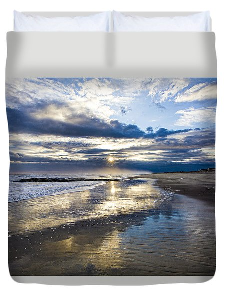 Jetty Four Sunset Duvet Cover