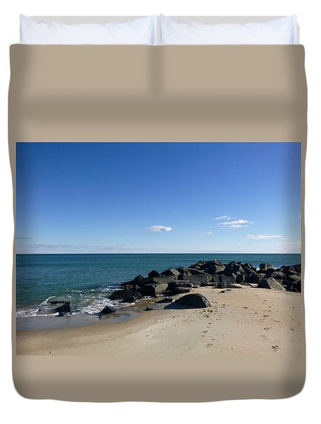 Jetty In November Duvet Cover