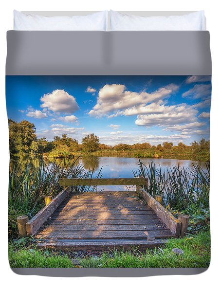 Duvet Cover featuring the photograph Jetty by James Billings