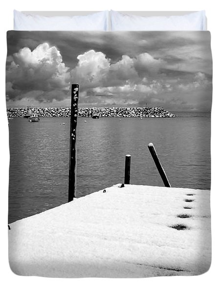 Jetty, Rhos-on-sea Duvet Cover