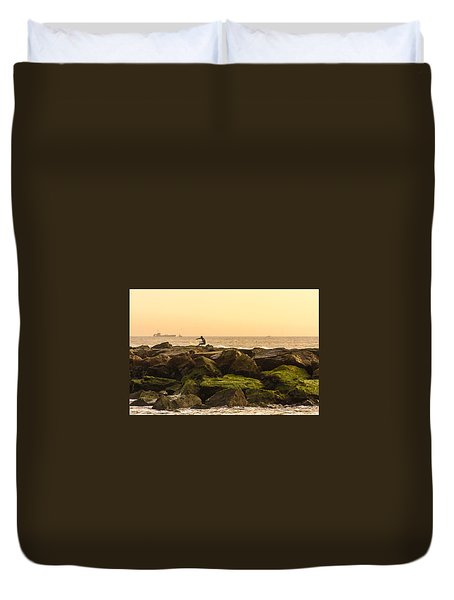 Jetty Surfer Duvet Cover