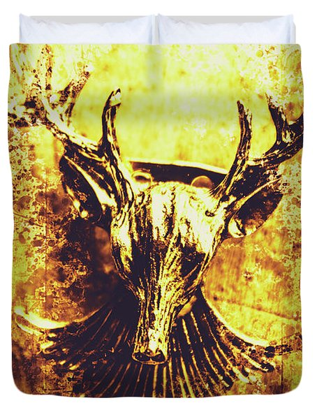 Jewel Deer Head Art Duvet Cover