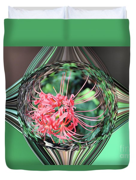 Jewel Of A Flower Duvet Cover