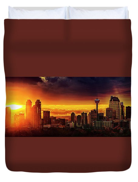 Duvet Cover featuring the photograph Jewel Of The Foothills by John Poon