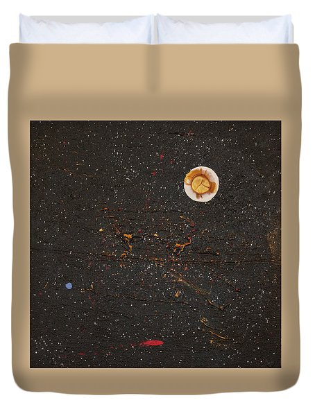 Duvet Cover featuring the painting Jewel Of The Night by Michael Lucarelli