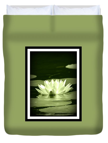 Jewel Of The Pond Duvet Cover