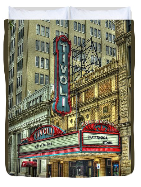 Jewel Of The South Tivoli Chattanooga Historic Theater Duvet Cover by Reid Callaway