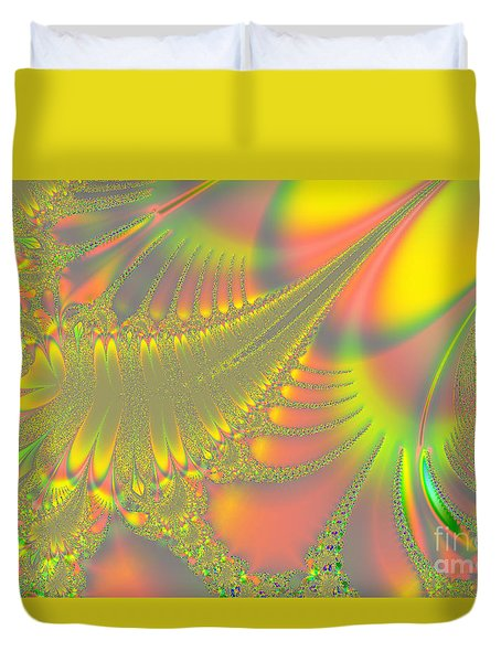 Jeweled Feather Duvet Cover
