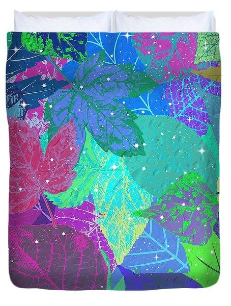 Jeweled Leaves Duvet Cover