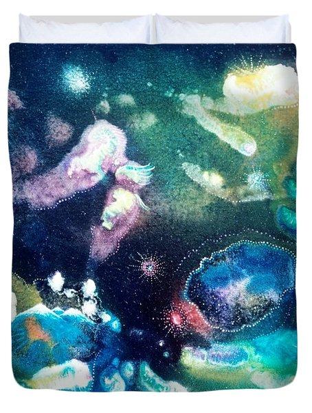 Jeweled Pegasus Duvet Cover by Lee Pantas