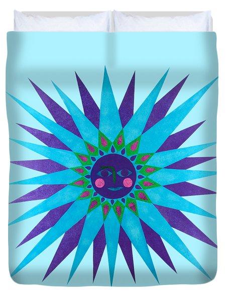Jeweled Sun Duvet Cover