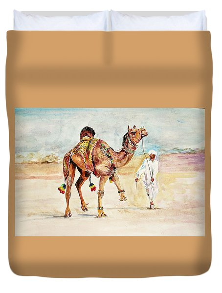 Jewellery And Trappings On Camel. Duvet Cover