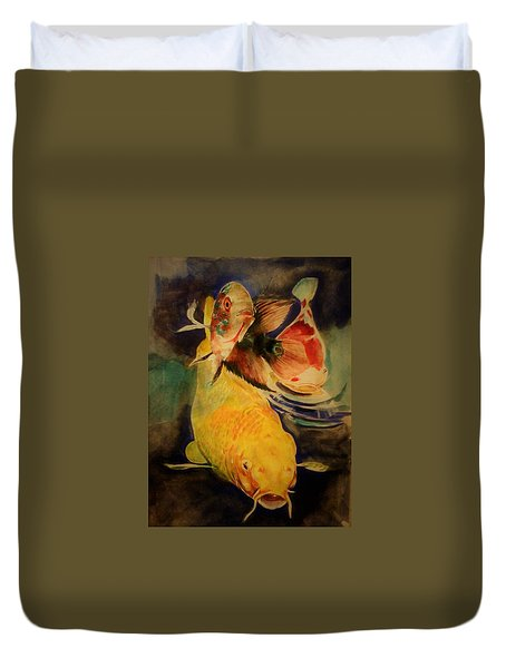 Jewels Of Lakes. Duvet Cover
