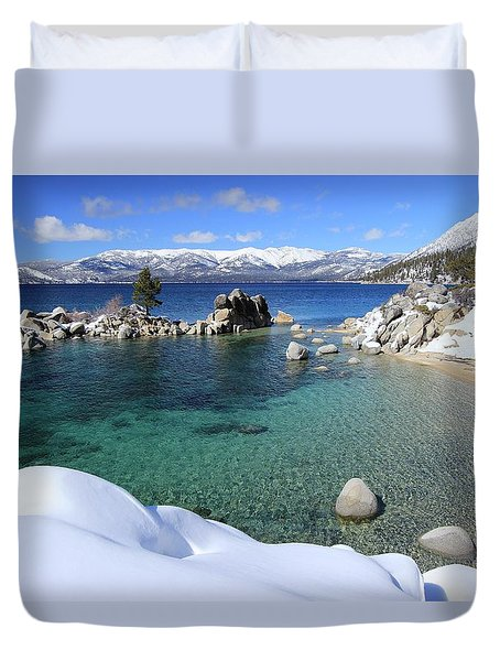 Jewels Of Winter Duvet Cover