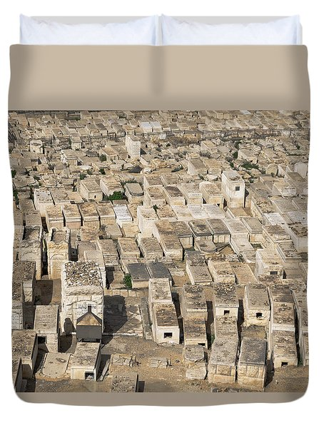 Jewish Cemetery On Mount Of Olives Duvet Cover