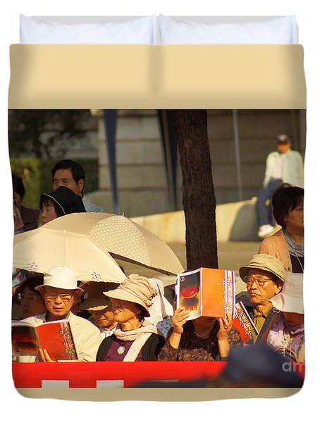 Duvet Cover featuring the photograph Jidai Matsuri I by Cassandra Buckley