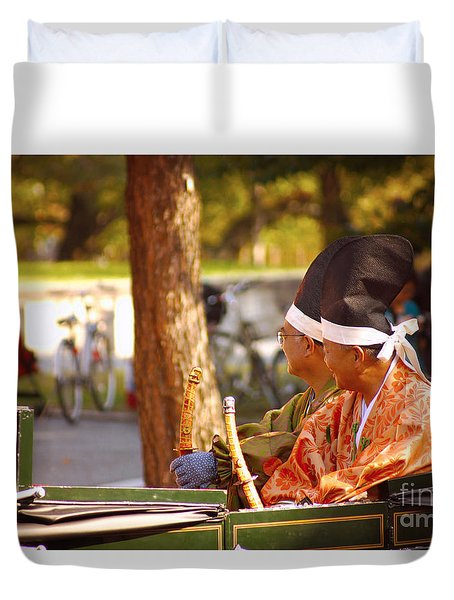 Duvet Cover featuring the photograph Jidai Matsuri II by Cassandra Buckley
