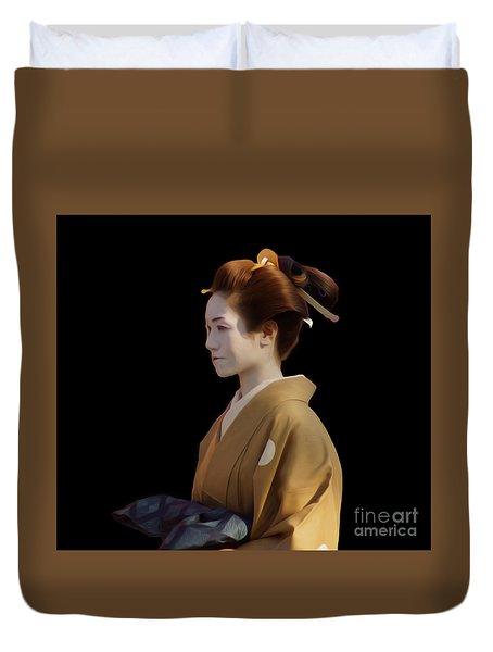 Duvet Cover featuring the photograph Jidai Matsuri IIi by Cassandra Buckley