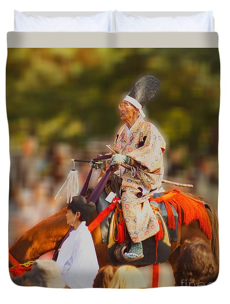Duvet Cover featuring the photograph Jidai Matsuri V by Cassandra Buckley