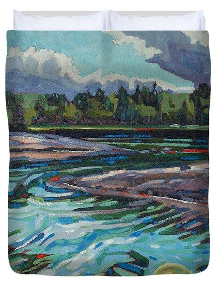 Jim Afternoon Rapids Duvet Cover
