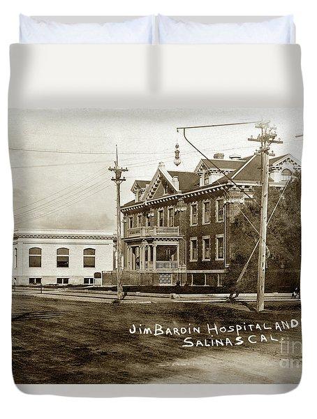 Jim Bardin Hospital The Hospital Was Located On The E Side Of Main Street  Circa 1910 Duvet Cover