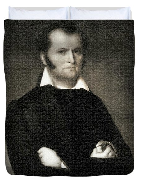 Jim Bowie - The Alamo Duvet Cover