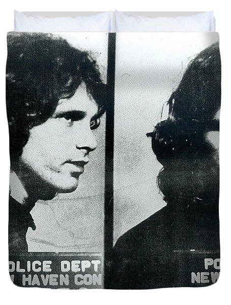 Jim Morrison Mug Shot Horizontal Duvet Cover