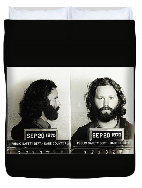 Jim Morrison Mugshot Duvet Cover