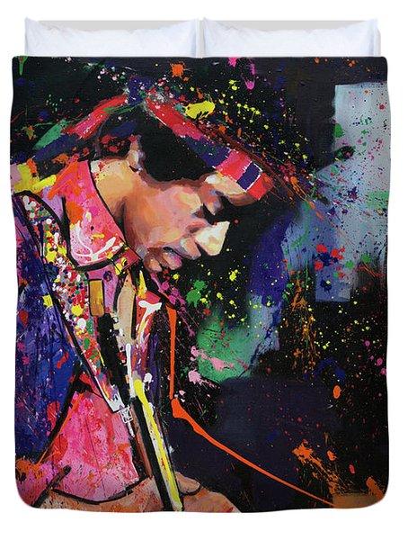 Jimi Hendrix II Duvet Cover by Richard Day