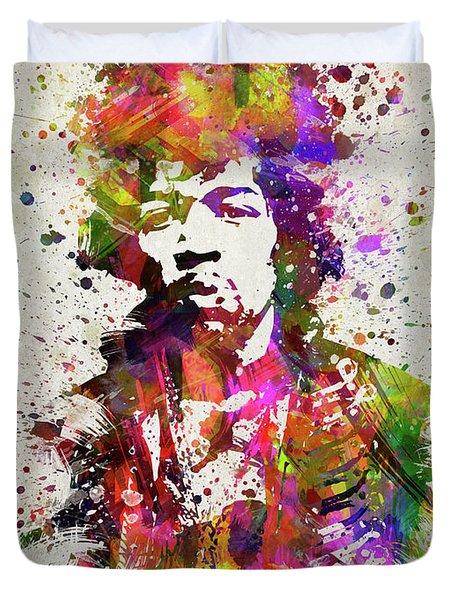 Jimi Hendrix In Color Duvet Cover