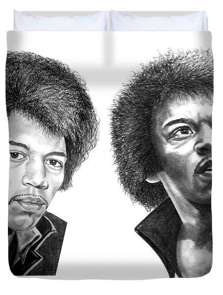 Jimi Hendrix Duvet Cover by Murphy Elliott