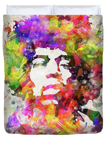 Jimi Hendrix Portrait Duvet Cover
