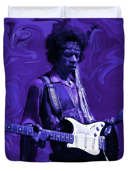 Jimi Hendrix Purple Haze Duvet Cover