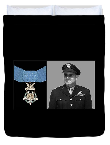Jimmy Doolittle And The Medal Of Honor Duvet Cover by War Is Hell Store