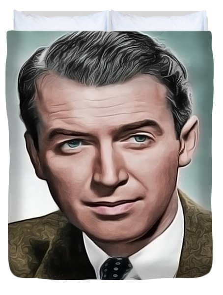 Duvet Cover featuring the painting Jimmy by Harry Warrick