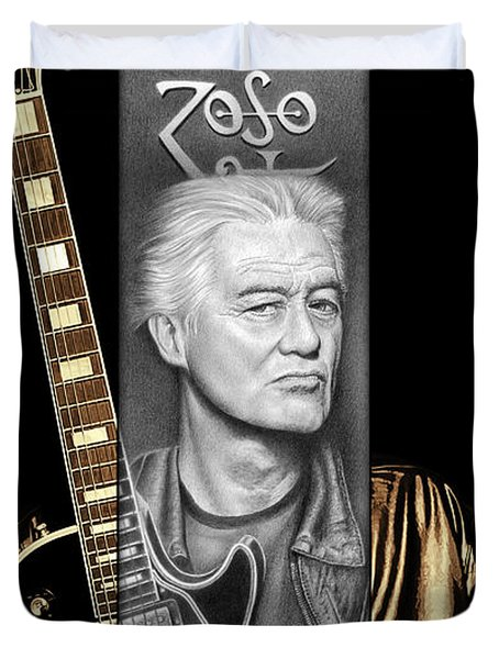 Jimmy Page Drawing Duvet Cover