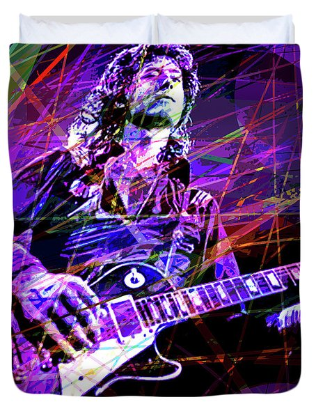 Jimmy Page Solos Duvet Cover