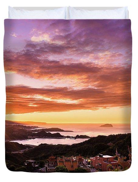 Jiufen Sunset Duvet Cover