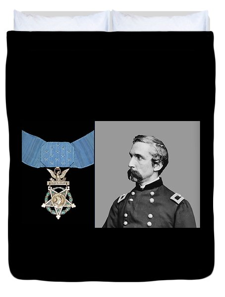J.l. Chamberlain And The Medal Of Honor Duvet Cover by War Is Hell Store